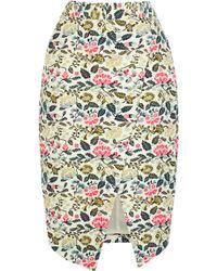 Oasis Oriental Jacquard Pencil Skirt - Lyst