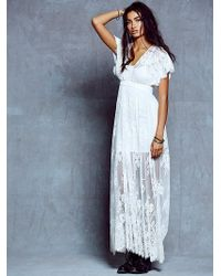 Free People Ethereal Lace Maxi - Lyst