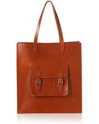 Cambridge Satchel Company The Saddle Leather Pocket Tote - Lyst