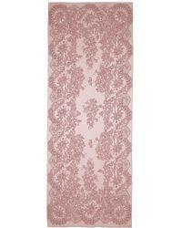 Valentino | Floral Lace Print Silk Satin Scarf | Lyst