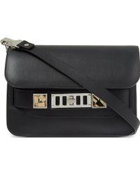 Proenza Schouler Ps11 Mini Leather Shoulder Bag Black - Lyst