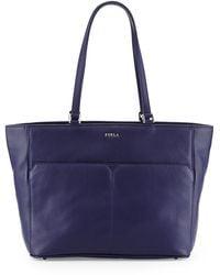 Furla Raffaela Medium Leather Tote Bag - Lyst