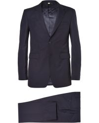 Burberry London Navy Slim-Fit Wool Suit - Lyst