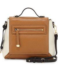 Halston Heritage Leather Flap Crossbody Bag brown - Lyst
