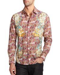 Robert Graham Scenic Cotton Print Shirt - Lyst