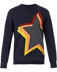 PS by Paul Smith Star Shift Intarsiaknit Sweater - Lyst