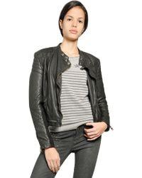 Superdry Angel Nappa Leather Biker Jacket - Lyst