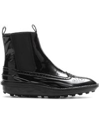 Balenciaga Patent Leather Ankle Boots - Lyst