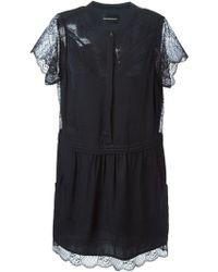 Zadig & Voltaire Lace Trim Dress - Black