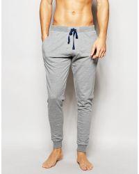 Esprit Cuffed Sweatpants In Slim Fit - Gray