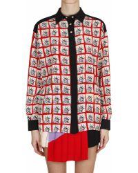 Fausto Puglisi Printed Silk Shirt - Lyst