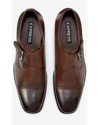 Express Single Strap Monk Dress Shoe - Brown