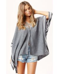 27 Miles Intarsia Cashmere Poncho - Lyst