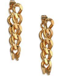 House Of Lavande Indah Chain Drop Earrings gold - Lyst