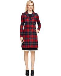 Brooks Brothers Wool Tartan Coat - Red