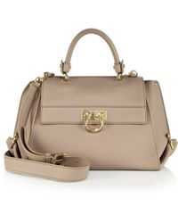 Ferragamo | Sofia Medium Leather Satchel | Lyst