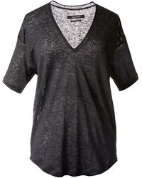 Isabel Marant Grey Linen Top - Lyst