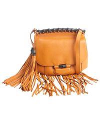 Gucci Rust Leather Nouveau Fringe Shoulder Bag - Lyst