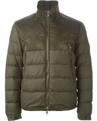 Moncler Camouflage Padded Jacket green - Lyst