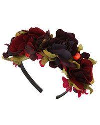 Topshop Floral Berry Headband - Lyst