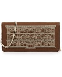 Love Moschino Metallic House Of Moschino Printed Wallet Clutch - Lyst