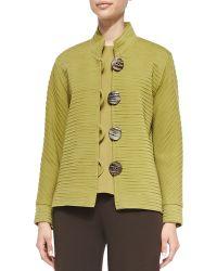 Caroline Rose Wool Ottoman Jacket - Lyst