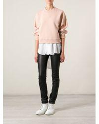 Acne Studios Pink Bird Sweatshirt - Lyst