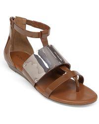BCBGeneration - Angelika Patent Open-Toe Sandals - Lyst