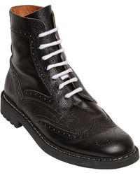 Givenchy Brogue Leather Combat Boots - Lyst
