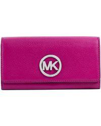 Michael Kors Fulton Leather Carryall Wallet - Lyst