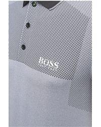BOSS Green Regular-fit Polo Shirt With Polka-dots: 'paddy Pro 1' - Black