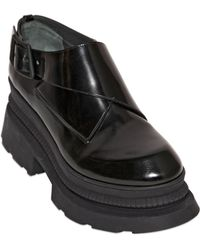KENZO 80mm Brushed Leather Monk Strap Shoes - Black