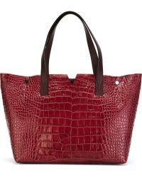 Vince - Stamped Crocodile Tote Bag - Lyst