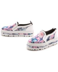 MSGM Slip On Sneakers  Rose Colate - Lyst