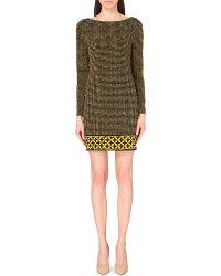 MICHAEL Michael Kors Nezla Long-Sleeved Boat Neck Contrast Hem Dress - For Women - Lyst