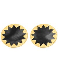 House Of Harlow 1960 Sunburst Button Earrings gold - Lyst