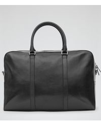 Reiss Barker 48 Hour Leather Holdall - Lyst