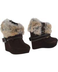 Balmain Shoe Boots - Brown