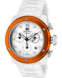 Glam Rock - Womens Aqua Rock Chronograph White Dial White Ceramic Glamrock Watch - Lyst