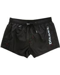 Diesel Black Coral Red Swim Shorts black - Lyst