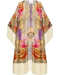 Athena Procopiou Bejewelled Vintage Kimono pink - Lyst