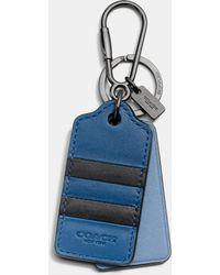COACH - Modern Varsity Stripe Key Ring - Lyst