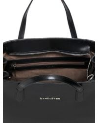 Lancaster Cale Saffiano Leather Top Handle - Black
