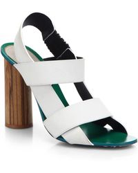 Proenza Schouler Strappy Leather & Wood Sandals - Lyst