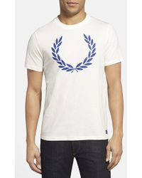 Fred Perry Graphic T-Shirt - Lyst