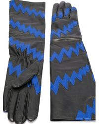 Christopher Kane Long Lightning Gloves - Black