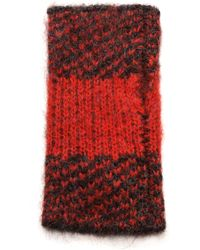 Rag & Bone Cammie Fingerless Mittens Royal Red - Lyst