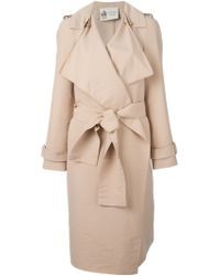 Lanvin Sculpted Trench Coat - Lyst