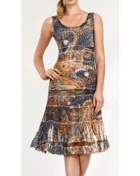 Komarov Lace Insert Tank Dress - Lyst