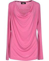 Diesel T-Shirt pink - Lyst